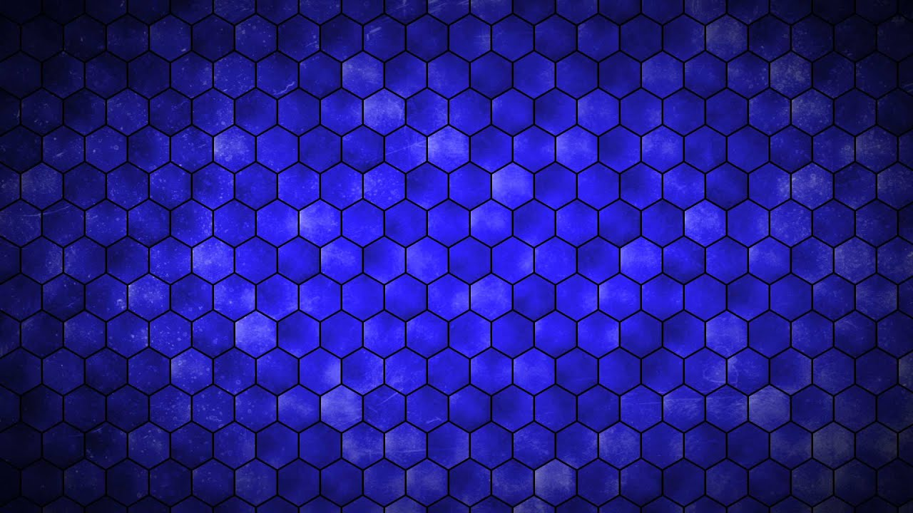 Blue Hexagon Grid Hd Background Loop Youtube