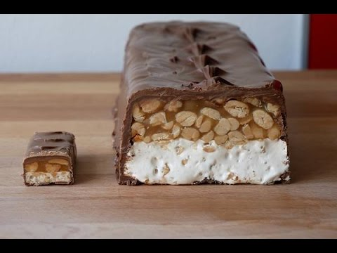 xxl snickers selber machen rezept giant snickers bar recipe