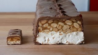 XXL Snickers Selber Machen (Rezept) || Giant Snickers Bar (Recipe) || [ENG SUBS]