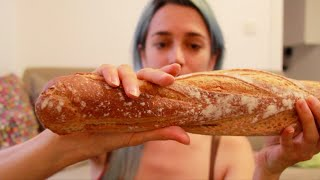 Asmr French Baguettes, Crunchy Bread
