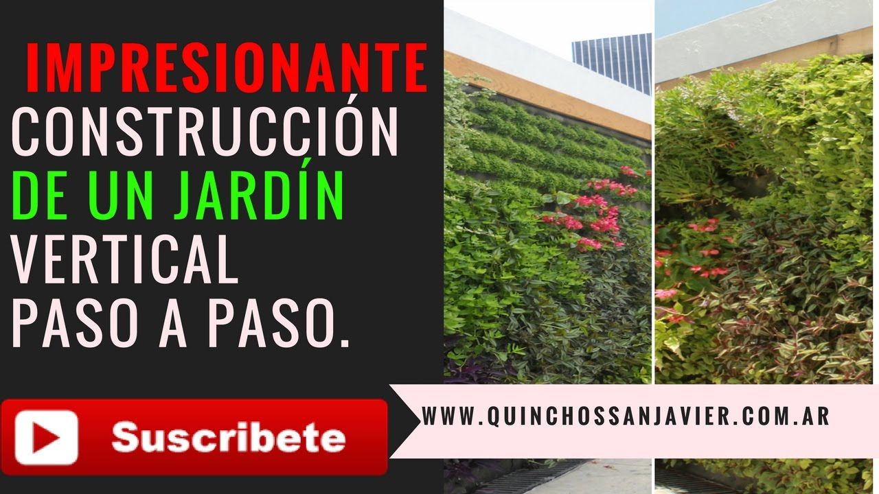 Cmo hacer un jardn vertical YouTube