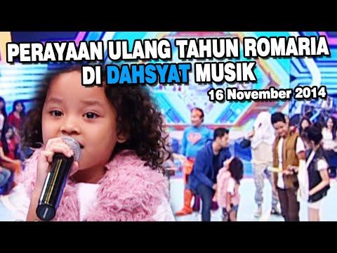 Perayaan Ulang Tahun Romaria Di DahSyat Musik 16 November 2014
