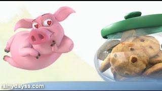 Desenho Engraçado O porquinho e o biscoito