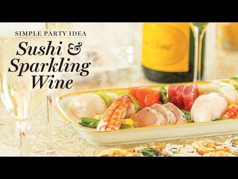 Wegmans Sushi & Sparkling Wine