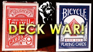 Deck War - Bicycle Rider Backs VS Tally-Ho Playing Cards