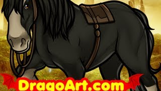 How to Draw Angus, Angus the Horse, Brave, Step by Step