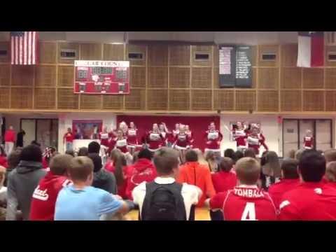 Tomball High School Red Team Varsity Advanced 2013--Pep Rally