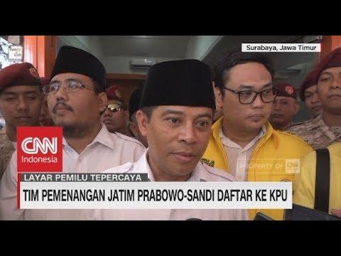 Tim Pemenangan Jatim Prabowo-Sandiaga Daftar ke KPU Mp3