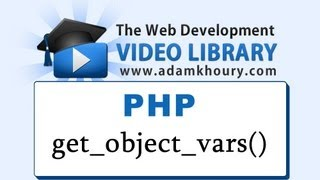 PHP Tutorial - get_object_vars() Function