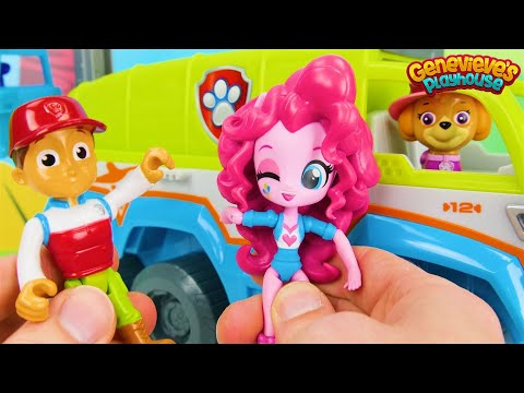 Best Paw Patrol Toy Video for Kids Learn Colors, Animal Names with My Little Pony ' Jungle Patroller