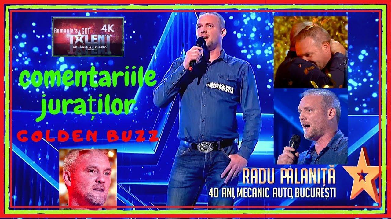 Românii au Talent! RADU PALANIŢĂ | COMENTARIILE JURAŢILOR | GOLDEN BUZZ de la Florin Călinescu!