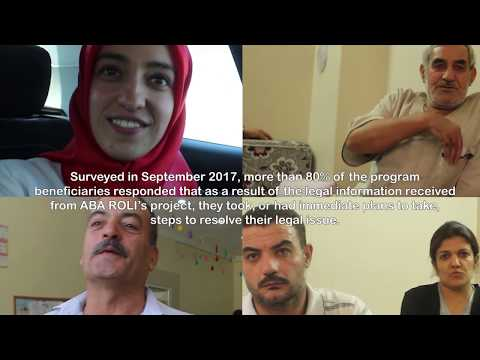 ABA ROLI's Program for Syrian Refugees in Turkey