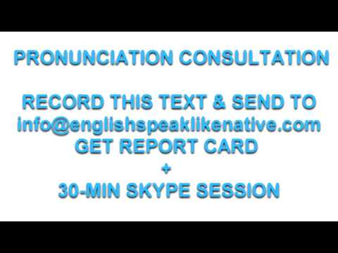 Speak English to Impress: Online Pronunciation and fluency