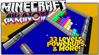 Minecraft | ARKANOID | Breakout In Minecraft! (Minecraft Brick Breaker Custom Map)