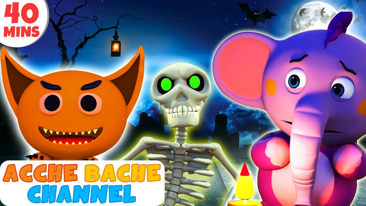 3D Halloween songs for Kids in Hindi   Nadiyon Paar   नदिया के पार   Acche Bache Channel
