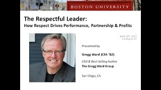 The Respectful Leader - How Respect Drives Performance, Partnership & Profits