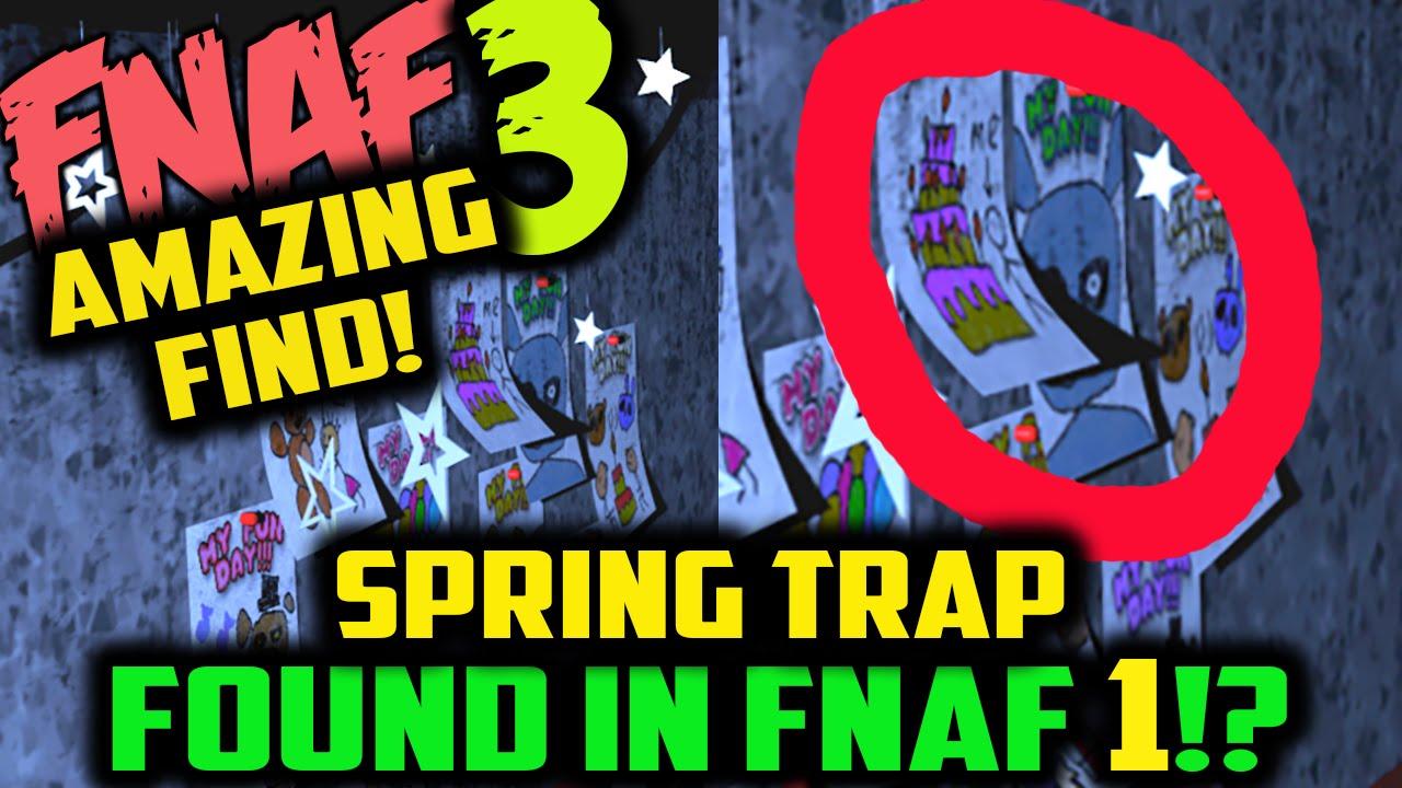 Fnaf 3 Spring Trap Found In Fnaf 1 Five Nights At Freddy