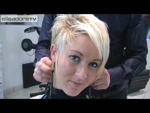 Id es coiffures cheveux courts fashion hairstyle for short hair youtube - Coupe tres courte ...
