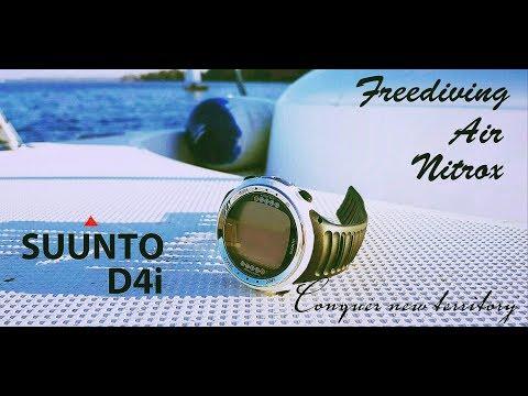 Suunto D4i лучшие часы для подводной охоты, фридайвинга и дайвинга!