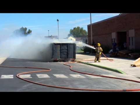 Joel P Jensen Middle School Dumpster Fire