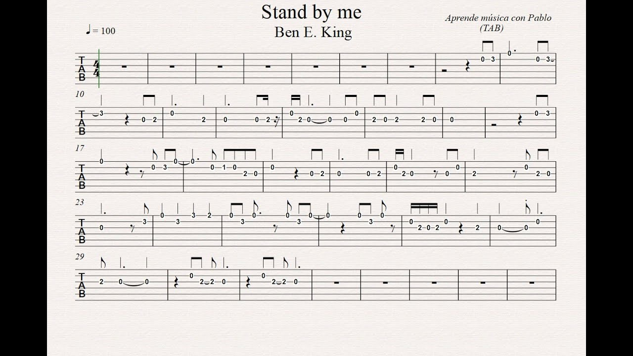 standing next to me chords