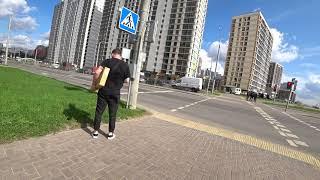 Фото Минск--Мир поездка на велосипеде. ЖК Minsk World дорожная инфраструктура