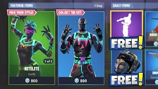 """NITELITE & LITESHOW"" CHARACTER SKINS! Should You Buy It? Item Shop Today (Fortnite Battle Royale)"