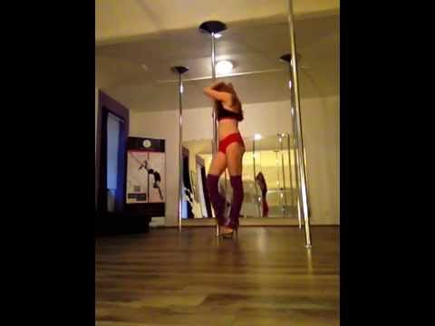 Exotic pole dance routine for the beginner group 2014, Studio Allure