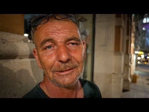 Homeless Man Sleeping Rough in London since He Was 17