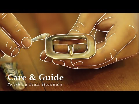Polishing Brass Hardware of Your Leather Belts