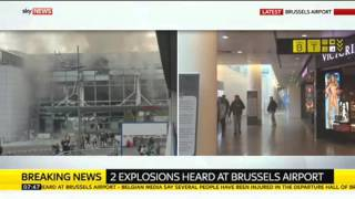 """""""There Was A Bomb"""": Brussels Airport Attacked"""