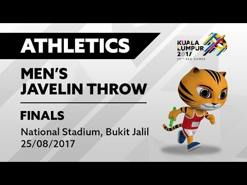 KL2017 29th SEA Games | Athletics - Men's Javelin Throw FINALS | 25/08/2017