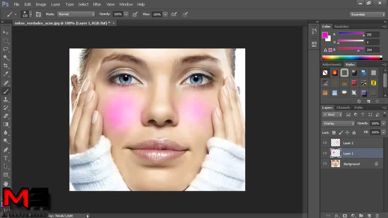 Photoshop Cs6 Como Fazer Maquiagem Virtual Youtube