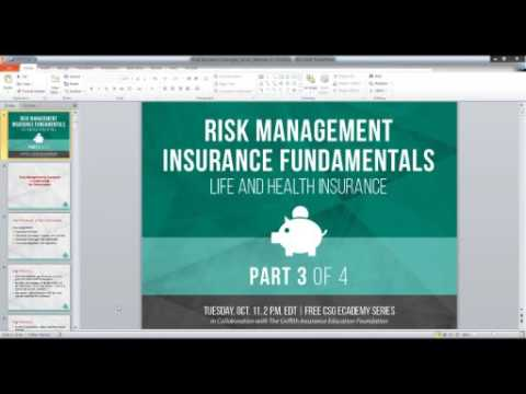 Risk Management Insurance Fundamentals