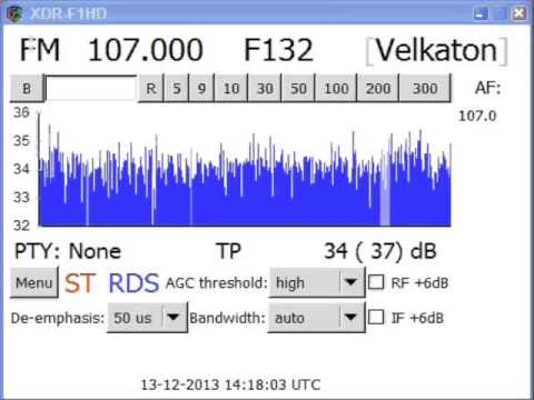 UKW-DX: 107.00 Radio Velkaton, received in Graz/Austria (13.12.2013)