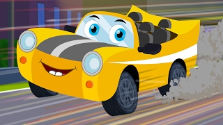 Ralph And Rocky | Race Car Song | Car Rhymes For Children