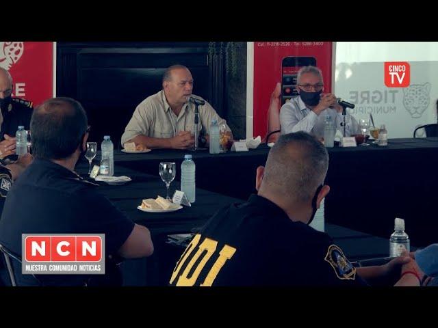 CINCO TV - Zamora recibió a Berni en Tigre y anunciaron una inversión en equipamiento policial