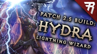 Repeat youtube video Diablo 3 2.5 Wizard Build: Lightning Hydra GR 97+ (Guide, PTR, Season 10)