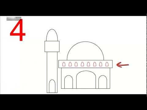 91  Gambar Masjid Hitam Putih Sederhana Terbaik