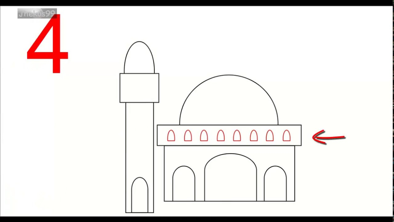 6 Langkah Mudah Membuat Gambar Masjid Youtube