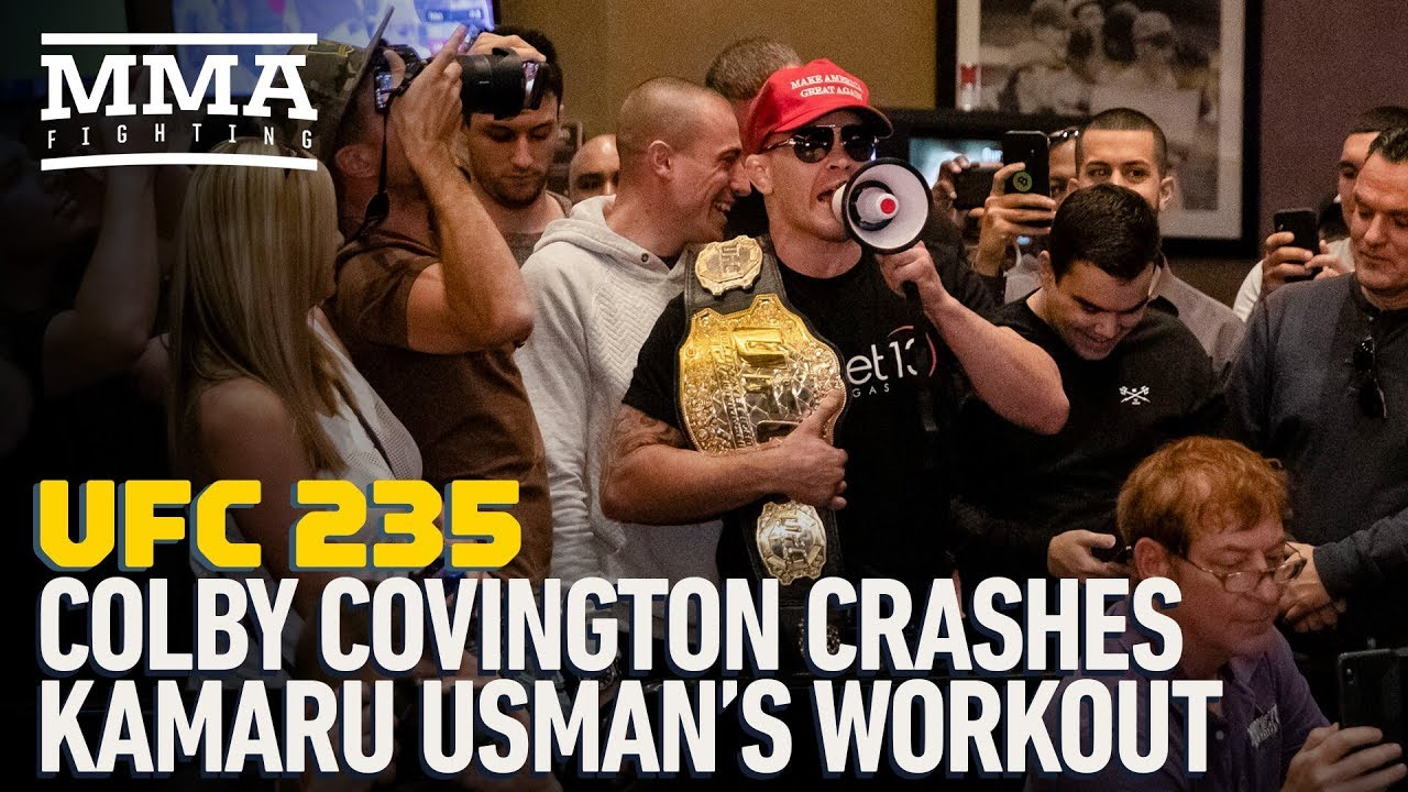 Video: Kamaru Usman, Colby Covington get into casino scuffle after UFC 235