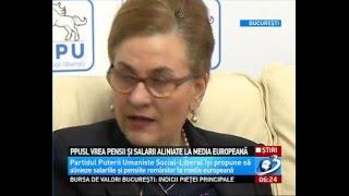 PPU-sl vrea pensii si salarii aliniate la media Europeana.