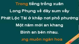 Ngay Xuan Long Phung Xum Vay Karaoke - Lam Truong - CaoCuongPro