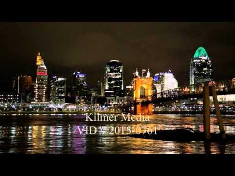 Downtown Cincinnati Skyline at Night