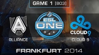 Cloud 9 vs. Alliance - Quarterfinals Map 1 - ESL One Frankfurt 2014 - Dota 2