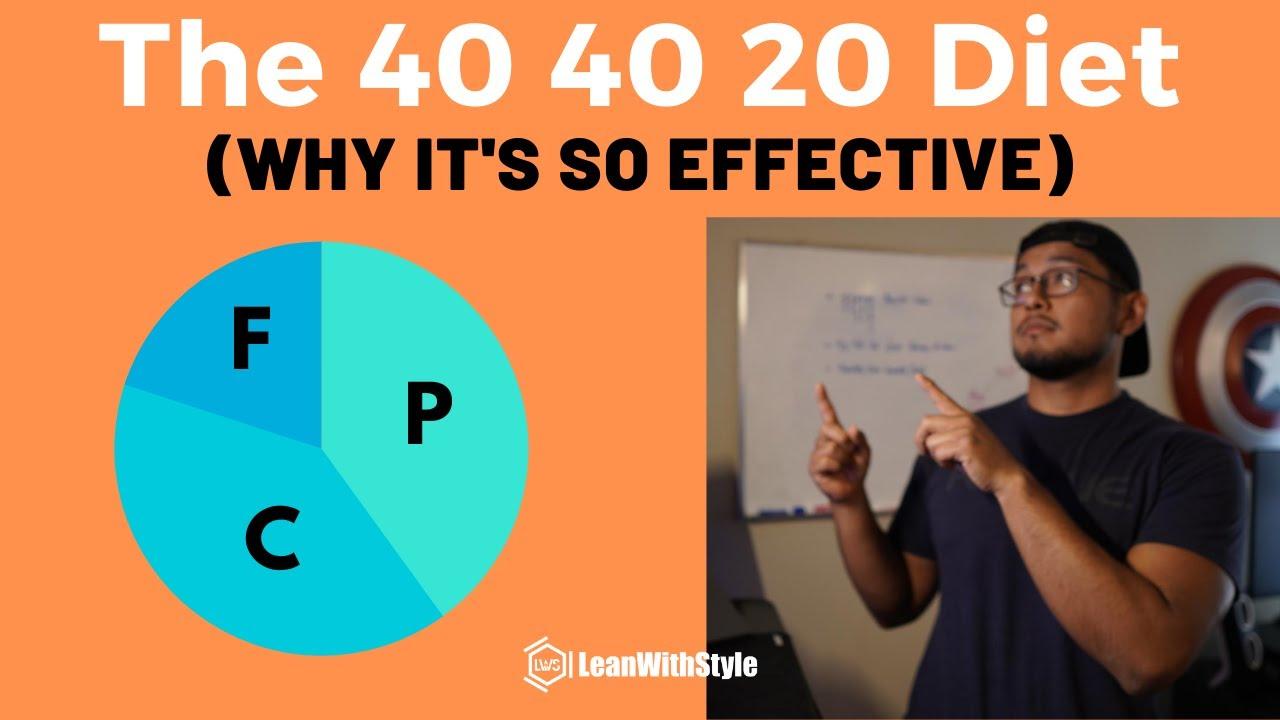 40 40 20 diet on nonn trainng days