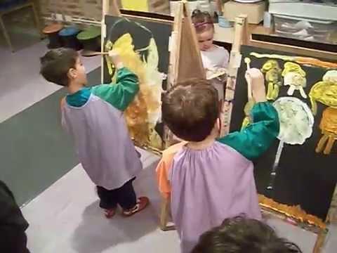 Pintando en Atriles los niños de 3, 4 y 5 años - YouTube
