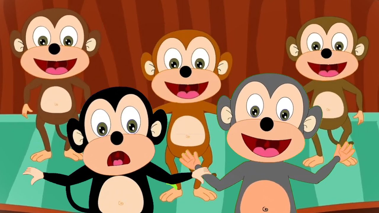 ลิงน้อยห้าตัว | เนอ สเซอรี่ ไรม์ | การศีกษาสำหรับเด็ก | เพลงเด็กทารก | ก่อนวัยเรียน