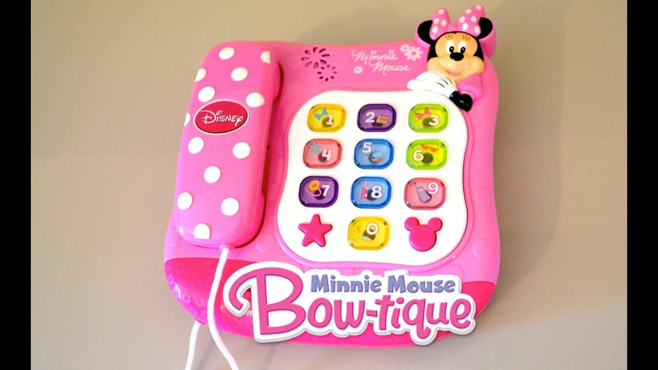 Minnie Mouse Talking Phone Disney Junior Minnie Mouse Bowtique