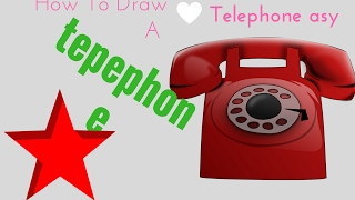 How To Draw A Telephone Easy| How To Draw A Telephone Easy Step By Step